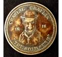 Charlie Chaplin - The Gold Rush Brass Advertising or Entrance Token - Savoy Burnley