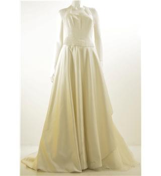 Donna salado size 12 ivory beaded bodice wedding dress for Oxfam wedding dress shop