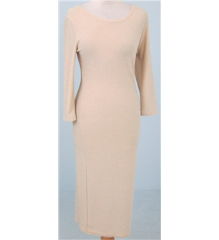 atmosphere size 12 taupe glitter bodycon dress oxfam gb oxfam s online shop. Black Bedroom Furniture Sets. Home Design Ideas