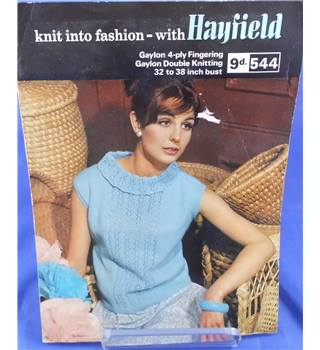 KNITTING PATTERN FOR LADIES LACY PANEL V NECK JUMPER  32-38 INS  DOUBLE KNIT