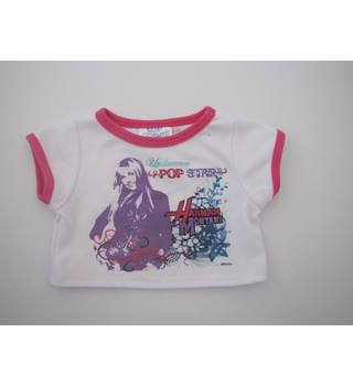 Build a Bear White//Pink Hannah Montana Top with Hearts