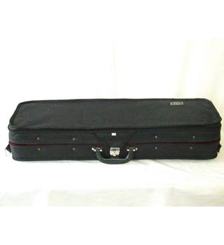 4//4 Durable Violin Hard Case Carrying Storage Bag with Handle /& Hygrometer