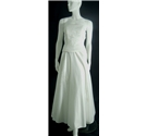 Size 8 Ivory Strapless A-Line Wedding Dress With Floral Beaded Embellishment by Meigibo