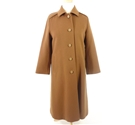 Autumn Crush Collection: Vintage Circa 1970s Design Jobis Size 12 Mocha Brown Wool Pea Coat