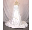 Mori Lee by Madeline Gardner - Size: US 12 / UK 14 / EUR 42 - White - Strapless wedding dress