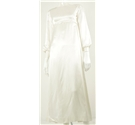 Vintage Circa 1970's Handmade Size 10 Ivory Wedding Dress
