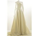 Donna Salado Size 12 Ivory Beaded Bodice Wedding Dress