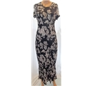 Nougat - Size Small - Black/Floral - Full length dress