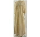Vintage 1970's unbranded size S cream long dress with lace peasant sleeves