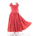 Vintage Circa 1950s Handmade High Quality Size 10 Coral Wedding Gown * pop up