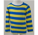 M&S Size 4 - 5 Years Blue Striped Long Sleeved T-Shirt