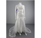BNWT Kiss Dresses Size 8 White Wedding Dress With Lace Embellishments And Subtle Fishtail Flare