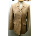 Aquascutum Size: 10 Gold / Beige Two-Piece Skirt Suit