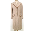 Quin And Donnelly Size: 12 Oyster and Bronze Jacquard Detail Longline Formal Coat