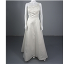 Beautful Contemporary Embellished Size 14 Ivory Wedding Dress