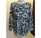Eastex long sleeve top Eastex - Size: 18 -Green/Black/Cream - Sweater
