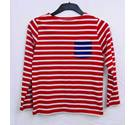 Boden red/white stripe top Size 9-10 years