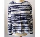 NWOT M&S Collection size 12 navy and white horizontal striped top