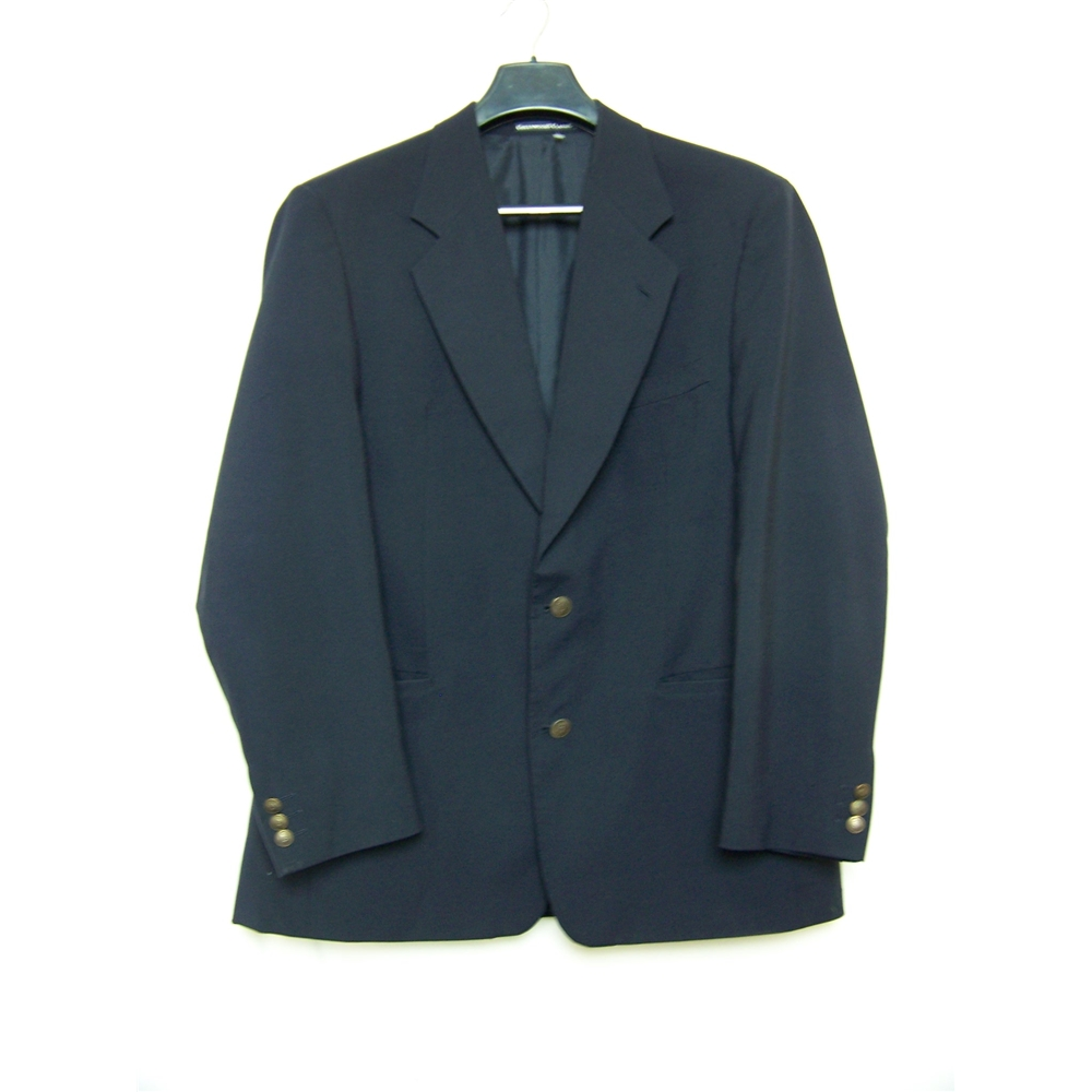 greenwoods size l blue single breasted suit jacket