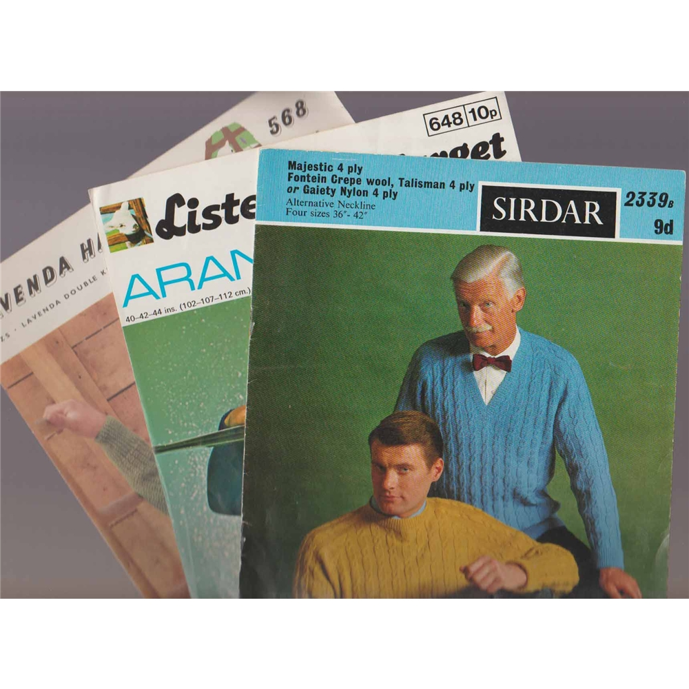 Vintage Knitting Patterns - Mens Jumpers (3) Oxfam GB ...
