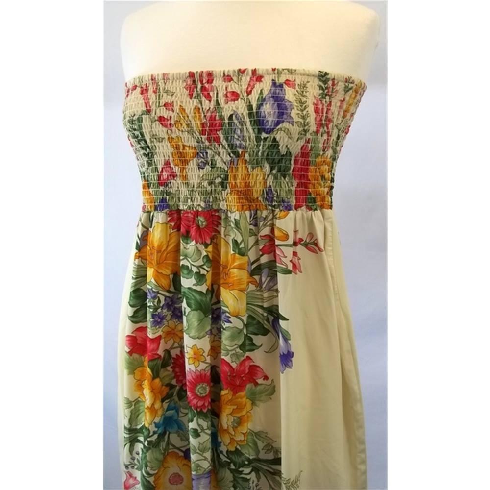 atmosphere size large multi coloured long skirt or dress oxfam gb oxfam s online shop. Black Bedroom Furniture Sets. Home Design Ideas