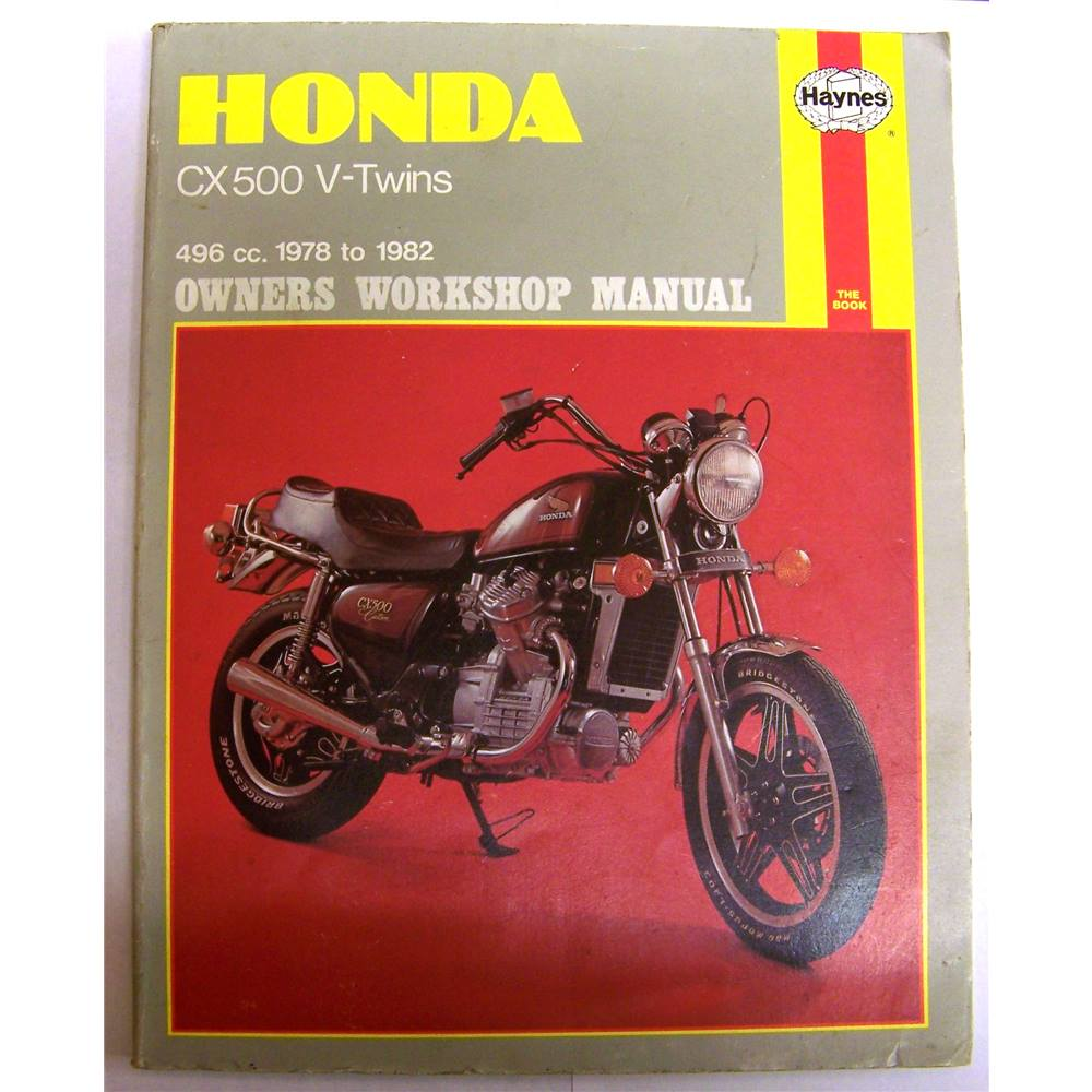 1978 Honda Cx500 Engine For Sale: Honda CX 500 V-Twins 496 Cc. 1978 To 1982 Owners Workshop
