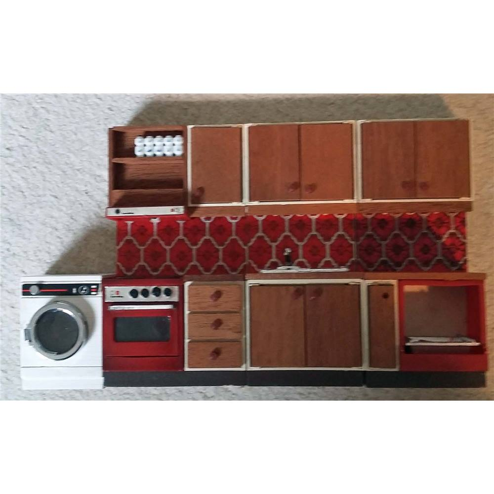vintage lundby dolls u0027 house kitchen furniture 4 pieces oxfam