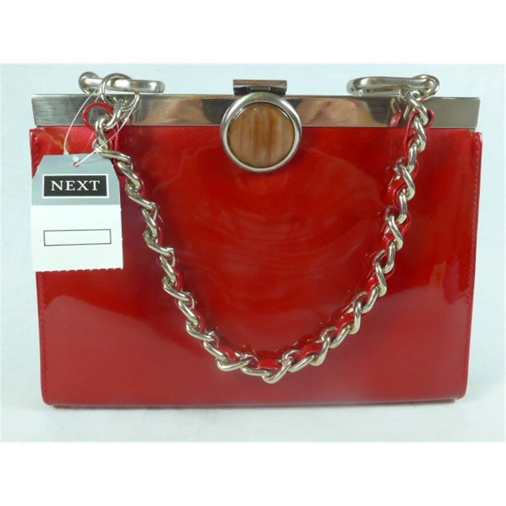 Red patent handbag. Next - Size: M - Red - Handbag | Oxfam GB ...