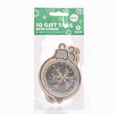 Bauble Print Kraft Gift Tags