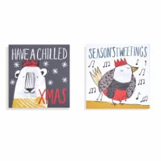 Mini Animals Christmas cards (16 pack)