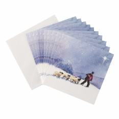 Shepherd with Sheep Christmas card (10 pack)
