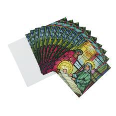 Stained Glass Christmas card (10 pack)