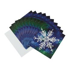 Snowflake Christmas card (10 pack)