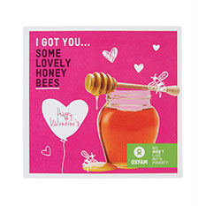 Valentine's honey bees