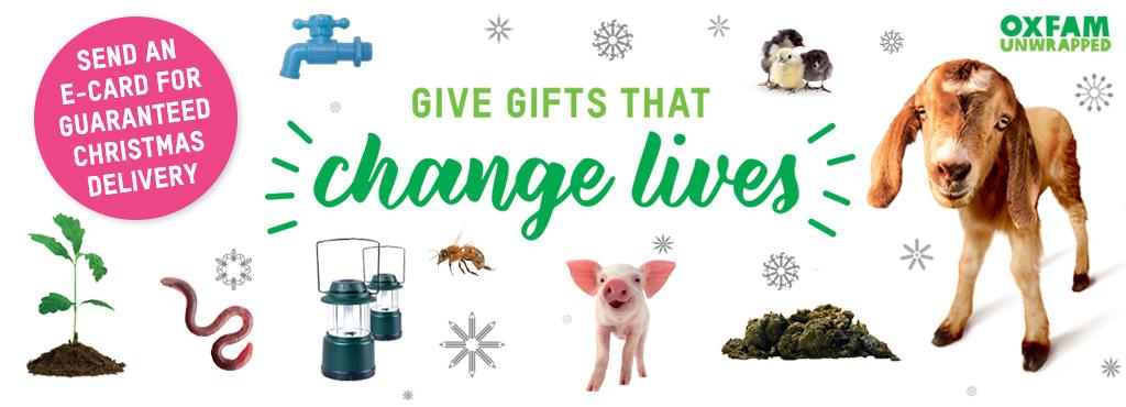 Oxfam christmas gift wrap