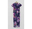 Ted Baker Floral print jump suit Dark Purple Size: 10