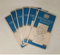 6 x Vintage 2.5 Inch Ordnance Survey Maps - Chorley and Burnley Areas - c1950