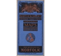 "Vintage Bartholomew's Revised ""Half-Inch"" Contoured Map Sheet 26 NORFOLK"