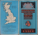 "Vintage Bartholomew's Revised ""Half-Inch"" Contoured Map Sheet 16 ESSEX"