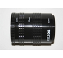 Helios auto extension tube set for M42 screw thread SLR cameras.