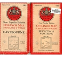 2 OS New Popular Edition Maps: Eastbourne + Brighton & Worthing