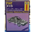 Haynes Fiat x1/9 (all models) owners workshop manual 1974-89