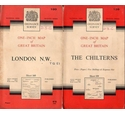 Two vintage OS 1-inch maps: London N.W + The Chilterns