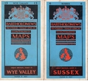 2 1960s Bartholomew's Revised 'Half-Inch' Contoured Maps - Sussex & Wye Valley