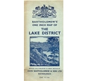 Bartholomew's One Inch map of the Lake District - cloth - 1950s