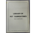 Library of PET Subroutines