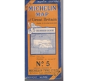 Vintage Michelin Map - No 5 - The Border Country - 3.15 miles to an inch