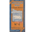 Vintage Michelin Map - No 6 - The Lakes and Moors - 3.15 miles to an inch