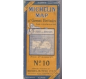 Vintage Michelin Map - No 10 - The Fens and Broads - 3.15 miles to an inch