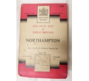 Ordnance Survey NORTHAMPTON Sheet 133 One Inch map on cloth